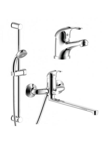 Комплект смесителей для ванной комнаты Rossinka Set 35-81 (хром глянец)