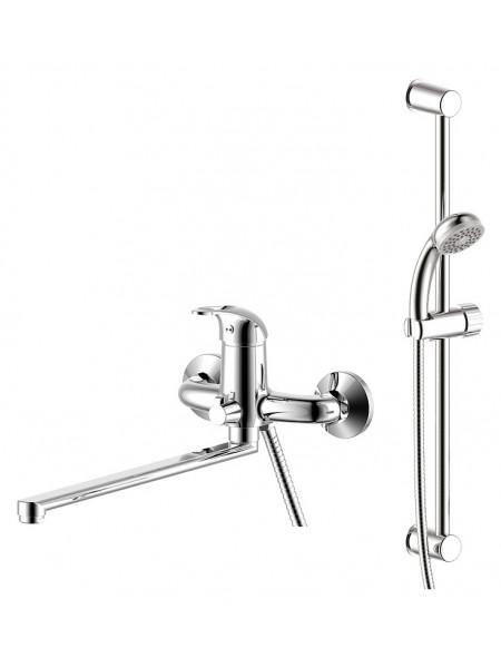 Комплект смесителей для ванной комнаты Rossinka Set 35-82 (хром глянец)