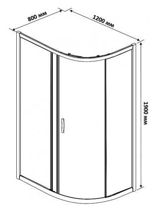 Душевой уголок Rush Fiji FI-A180120-L 120x80x190 (левый, прозрачное стекло)