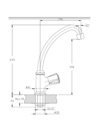 Кран для холодной воды Rush Pioneer PI7950-24 (хром глянец)