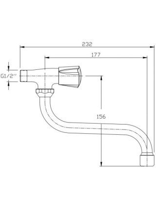 Кран для холодной воды Rush Pioneer PI7950-28 (хром глянец)