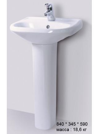 Раковина Sanita Комфорт 48 CMFSAWB01 48 см. (белая)