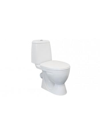 Унитаз напольный Sanita Идеал Комфорт IDLSACC01030713 (косой, дюропластовое сиденье, микролифт)