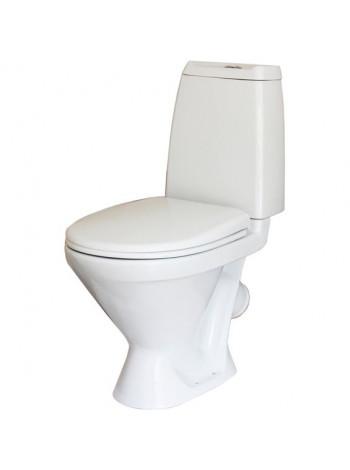 Унитаз напольный Sanita Кама Комфорт KMASACC01070711 (косой, дюропластовое сиденье, микролифт)