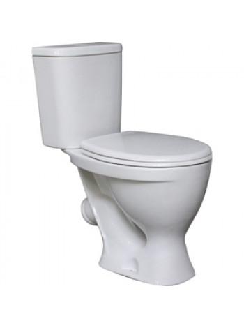 Унитаз напольный Sanita Формат Люкс FRTSACC01020713 (косой, дюропластовое сиденье)