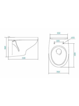 Унитаз подвесной Сантек Бореаль 1.WH30.2.205 (дюропластовое сиденье, микролифт)