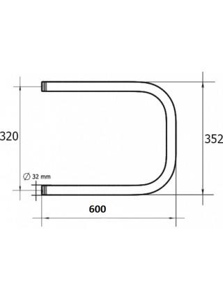 Полотенцесушитель водяной Terminus П-образный П 320х600 (хром глянец, боковое подключение)