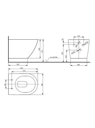 Унитаз подвесной Toto NC Rimless CW762Y (безободковый, крышка-сиденье VC100N (дюропласт, микролифт))