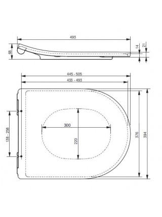 Крышка-сиденье для унитаза Toto MH/NC Slim VC10162 (дюропласт, микролифт, тонкое)