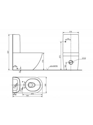 Унитаз напольный Toto NC Rimless CW761Y (безободковый, крышка-сиденье VC100N (дюропласт, микролифт))
