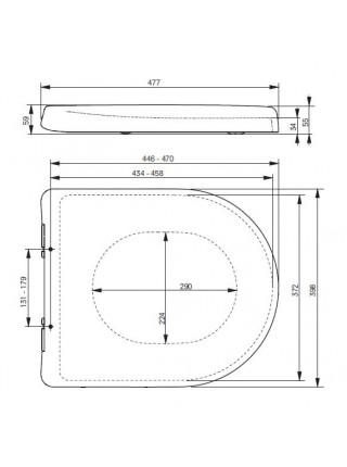 Крышка-сиденье для унитаза Toto MH VC10047NN (дюропласт, микролифт)