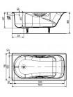 Чугунная ванна Универсал Сибирячка 25707546-1 170х75 (с отверстиями под ручки)