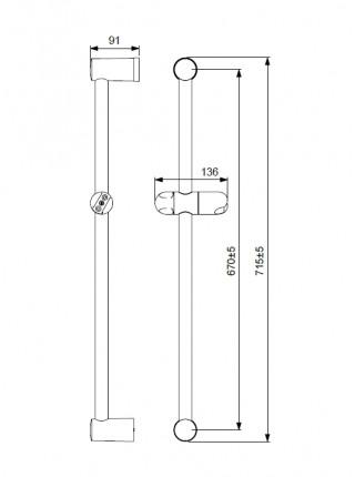 Душевая стойка Vidima Fresh BA195AA (хром глянец)