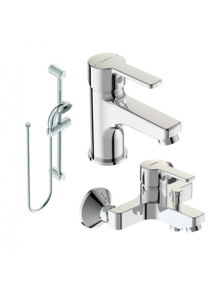 Комплект смесителей для ванной комнаты Vidima Uno BA376AA (хром глянец)