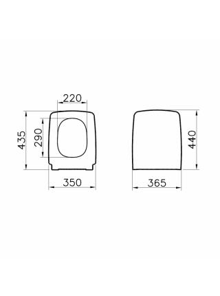Крышка-сиденье для унитаза Vitra Metropole 90-003-001 (дюропласт)