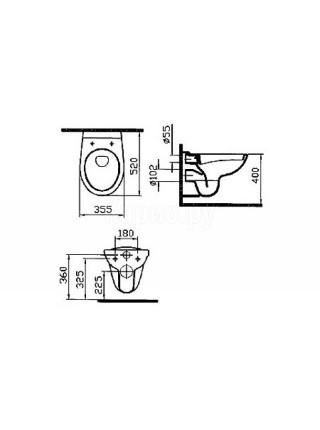 Чаша подвесного унитаза Vitra Normus 6855B003-0101
