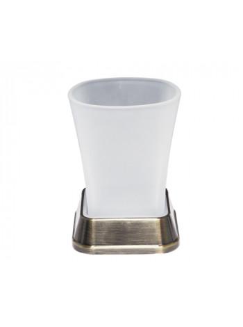 Подстаканник стеклянный Wasser Kraft Exter K-5528 (светлая бронза)