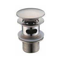 Донный клапан Wasser Kraft Push-up A073 (матовый хром, click-clack)