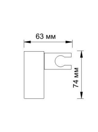 Держатель для ручного душа Wasser Kraft A011 (хром глянец, настенный)