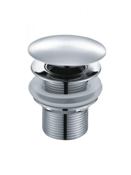 Донный клапан Wasser Kraft Push-up A024 (хром глянец, click-clack)
