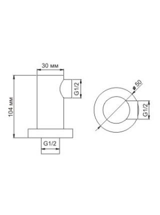 Шланговое подключение WasserKraft A021 (хром глянец)