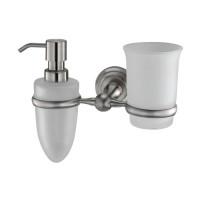 Держатель стакана и дозатора Wasser Kraft Ammer К-7089 (матовый хром)