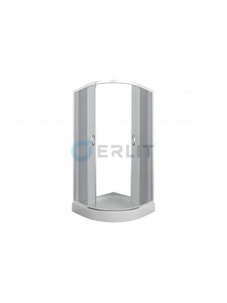 Душевой уголок Erlit ER0510-C4 100х100 (тонированное стекло, низкий поддон)