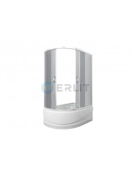 Душевой уголок Erlit ER 0512TR-C4 120х80 (правый, тонированное стекло, высокий поддон)