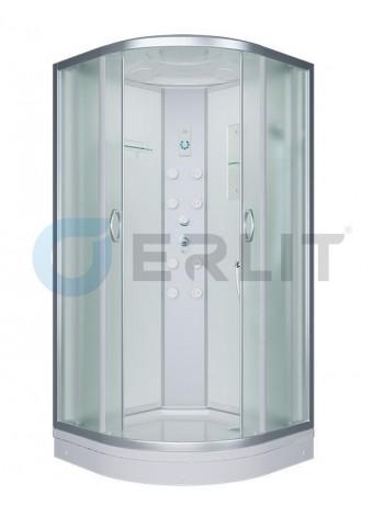 Душевая кабина Erlit ER4510P-C3-RUS 100х100 (матовое стекло, низкий поддон)