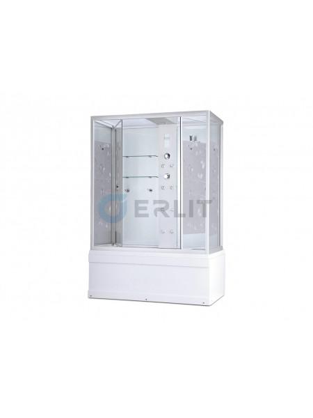 Душевой бокс Erlit SYD170-W2 167х90 (прозрачное стекло с рисунком, высокий поддон)