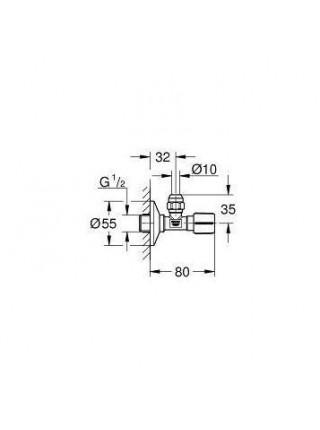 Угловой вентиль Grohe 22037GN0 1/2*3/8 (золото матовое)