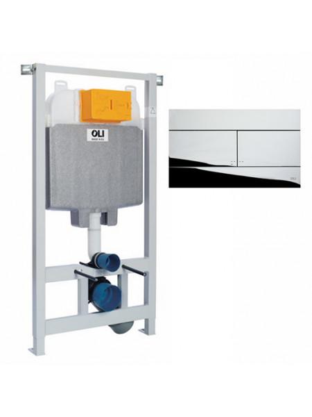 Инсталляция для подвесного унитаза Oli74 Sanitarblock 601801mSl00 (клавиша Oli Slim, хром глянец)