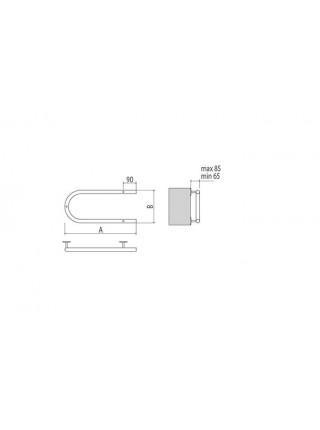 Полотенцесушитель электрический Terminus П-образный 500х200 (хром глянец, скрытая подводка справа, сухой тэн)